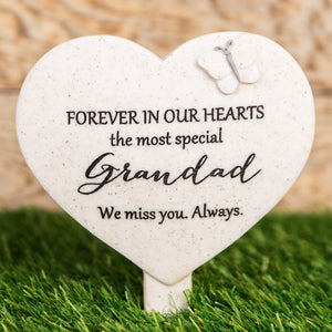 Widdop 62598 Memorial Heart Shaped Stake - Grandad