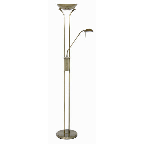 Oaks 5505FLAB Mother & Child Floor Lamp - Antique Brass