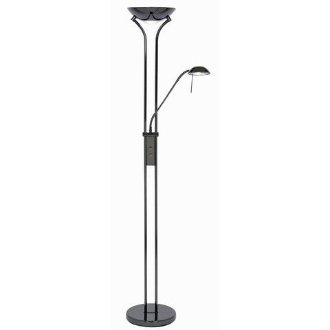 Oaks 5055FLBC Mother & Child Floor Lamp - Black Chrome