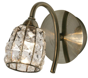 Oaks 5157/1AB Naira 1 Wall Light - Antique Brass