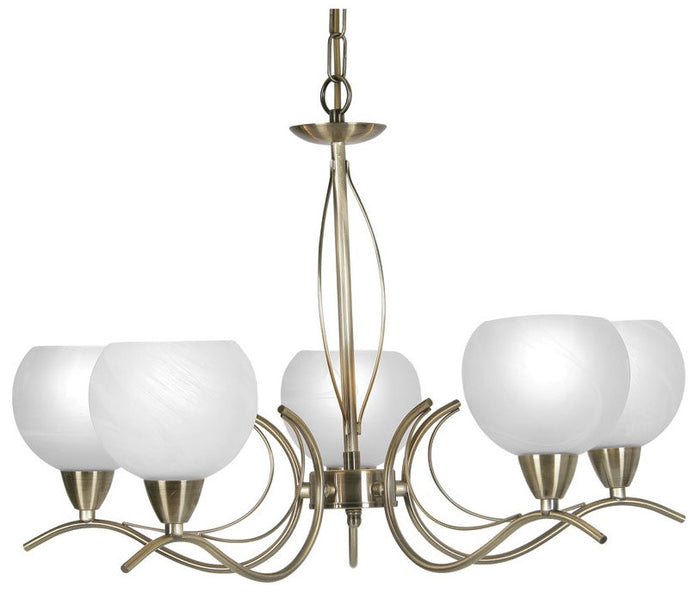 Oaks 1063/5AB Luanda 5 light Ceiling Lights