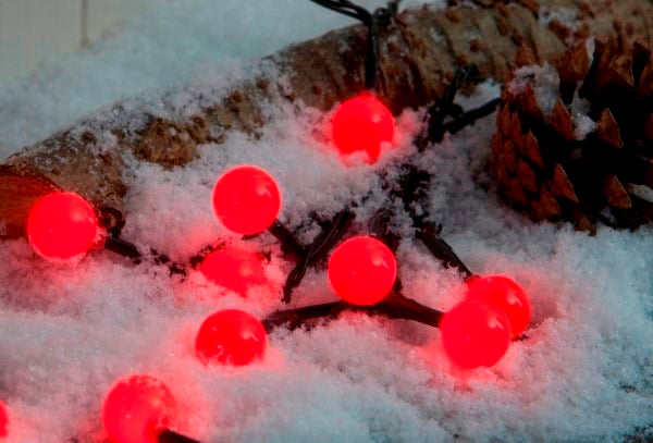 Noma 1614260 100 Red LED Berry Lights