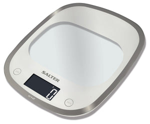 Salter 1050WHDR Curve Digital Kitchen Scales - White