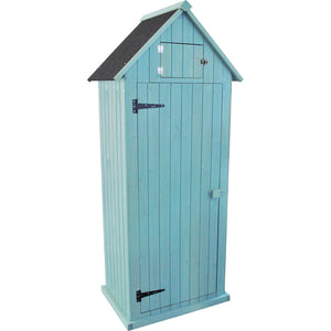 Sentry Box Shaped Stained Wooden Storage Shed