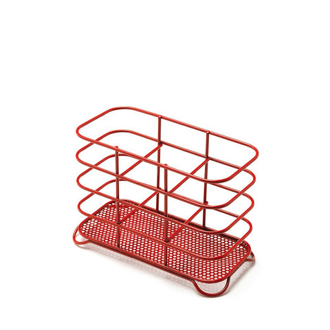 Addis 515633 Wire Cutlery Holder - Red