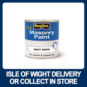 Rustins Masonry Paint Quick Drying Matt White - Various Sizes