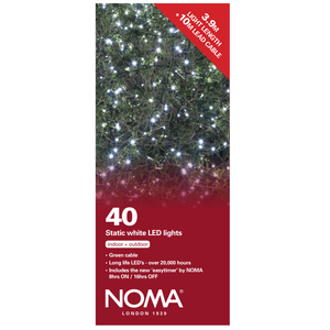 Noma 8741GW 40 Static White LED Lights