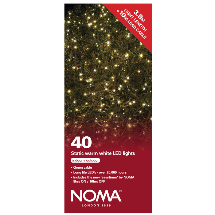 Noma 8741GWW 40 Static Warm White LED Lights