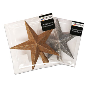 Premier Decorations 200mm Star Tree Topper - Assorted Colours