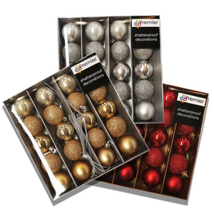 Premier Decorations 40mm Baubles Pk20 - Assorted