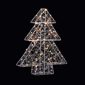 Premier LB184587 Lit Wire Christmas Tree 40cm 30 Warm White LEDs