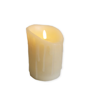 Accents Flickabrights Melted Edge LED Candle - Various Sizes