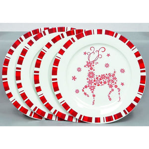 Premier Decorations Set of 4 Christmas Plates