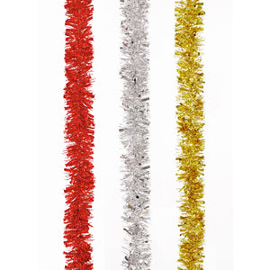 Accents TI178509 Shiny Tinsel Garland 2Mtrs - Assorted
