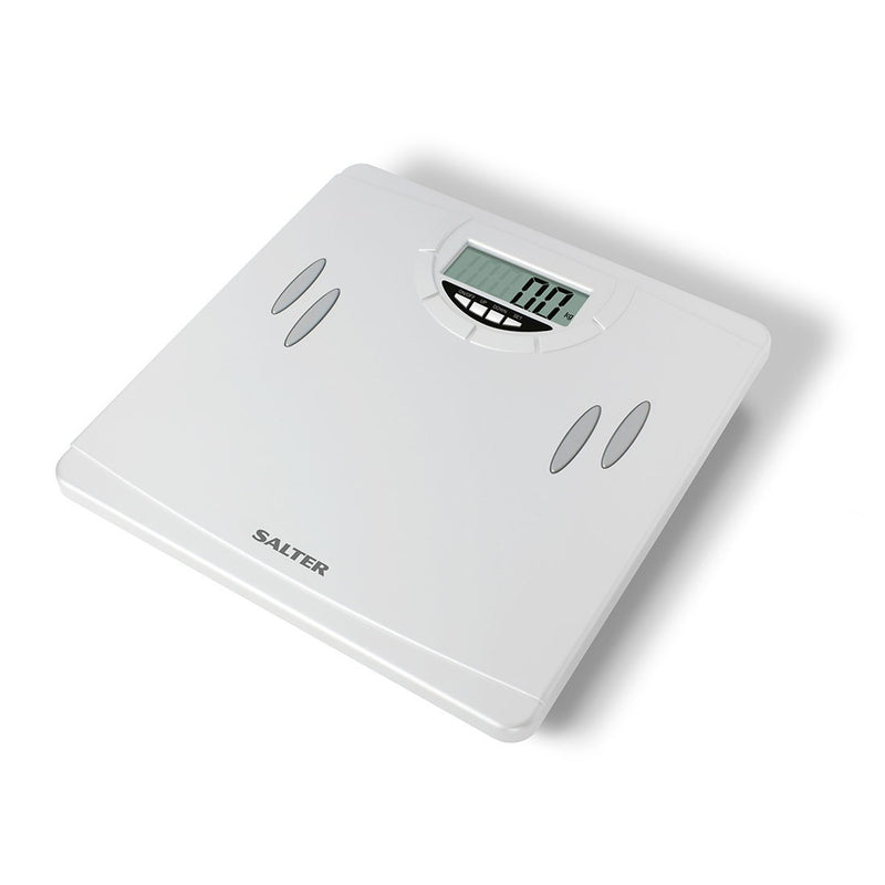 Salter 9139WH3R Compact Body Analyser Bathroom Scale - White