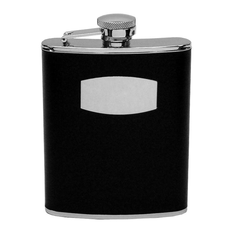 Harvey Makin 9859BK S/Steel Black Hip Flask 6oz