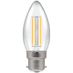 Crompton BC LED Filament Candle 5 Watt Warm White Clear