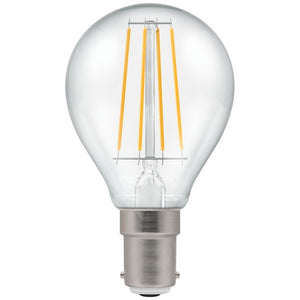 Crompton SBC LED Filament Round 5 Watt Warm White Clear