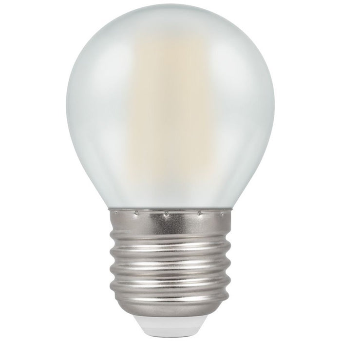 Crompton ES LED Filament Round 5 Watt Warm White Pearl