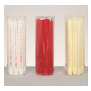 Premier 9DB161 Advent Candle 25cm Pkt1 - Assorted Colours