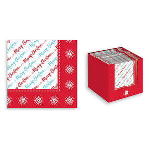 W J Nigh 9DR482 Contemporary Christmas Napkins 20pk