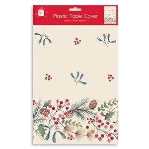 W J Nigh 9DR486 Traditional Christmas Tablecloth