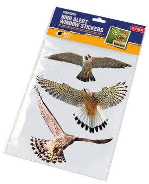 Gardman A01311 Bird Alert Window Stickers - Pack of 6