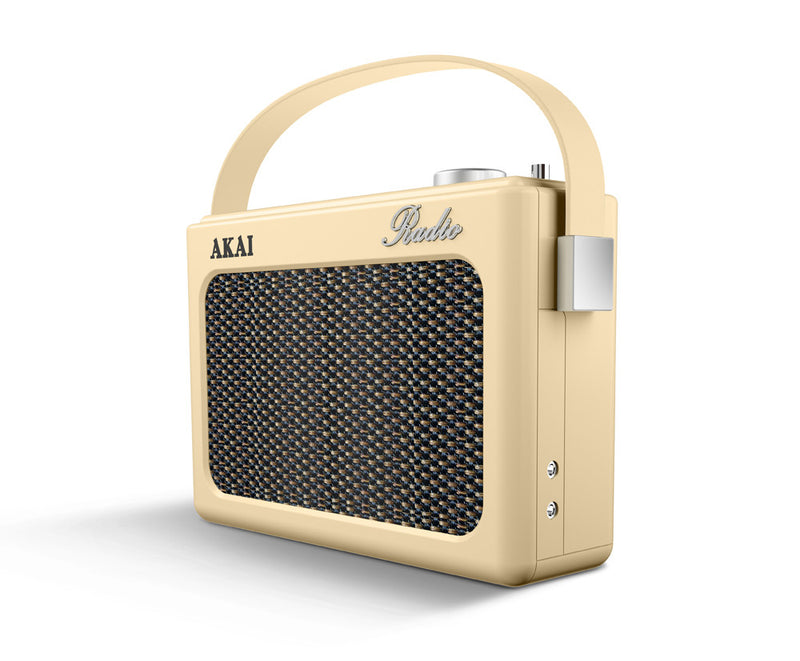 Akai A60016 Retro Portable DAB Bluetooth Radio - Cream