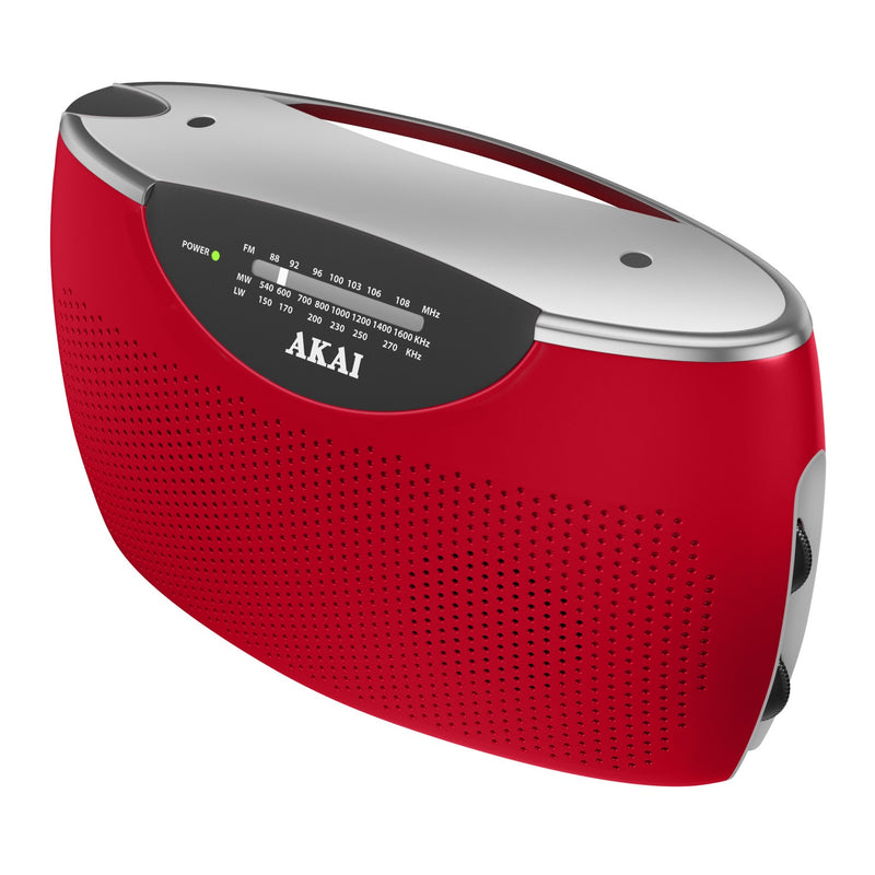 Akai A61005R Jumbo Radio - Red