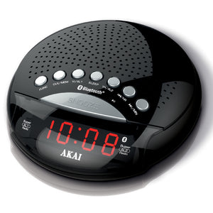 Akai A61022 Bluetooth Alarm Clock Radio - Black