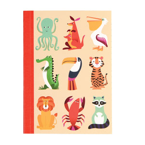 Rex London 27389 A6 Note Pad - Colourful Creatures