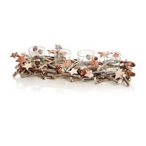 Premier AC155259 Sparkle Twig Tealight Holder Rectangular