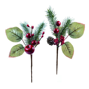 Premier Decorations AC175225 Red Berry Pick 25cm - Assorted