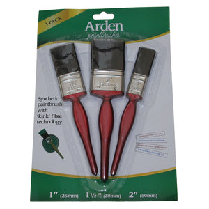 Arden AEC3PK Economy Paintbrush 3 Pack Set