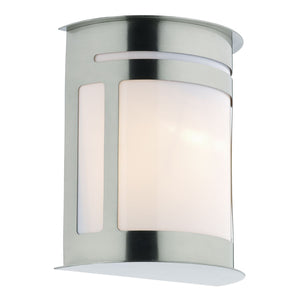 Dar ALU1644 Alumni Wall Light / Lantern Stainless Steel IP44