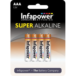 Infapower B701 1.5V AAA size Alkaline Battery - Pack of 4