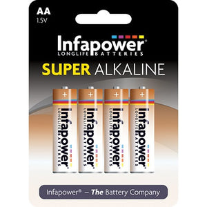 Infapower B702 1.5V AA size Alkaline Battery - Pack of 4