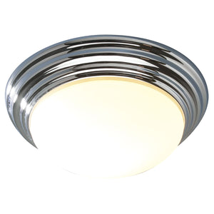 Dar BAR5050 Barclay Large Flush Light Polished Chrome IP44