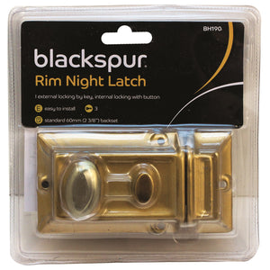 Blackspur BH190 Standard Rim Night Latch 60mm