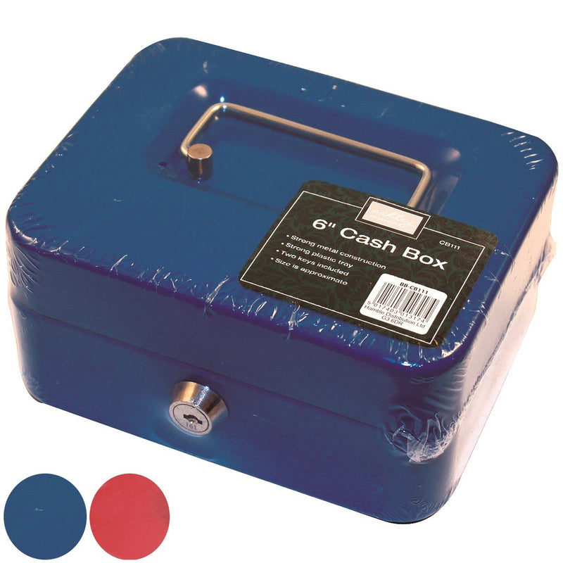 "Ashley CB111 Cash Box 6"" - Blue or Red"