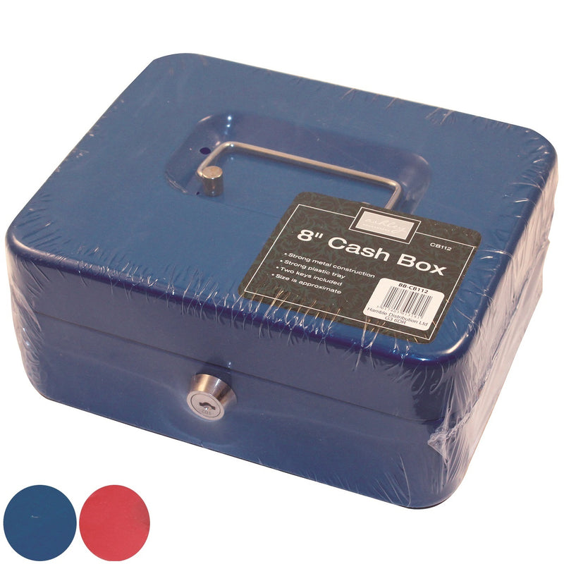 "Ashley CB112 Cash Box 8"" - Blue or Red"