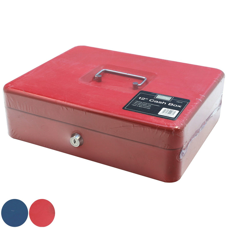 "Ashley CB114 Cash Box 12"" - Blue or Red"