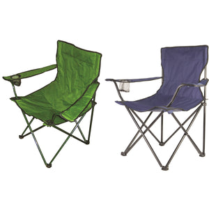 Redwood Leisure Folding Canvas Chair - Blue or Green