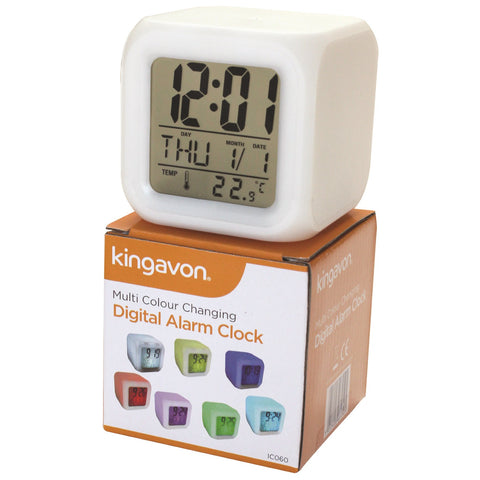 Kingavon IC060 Multi Colour Changing Digital Alarm Clock