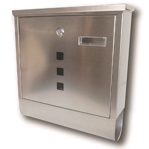 Ashley Housewares MB203 Stainless Steel Mail Box