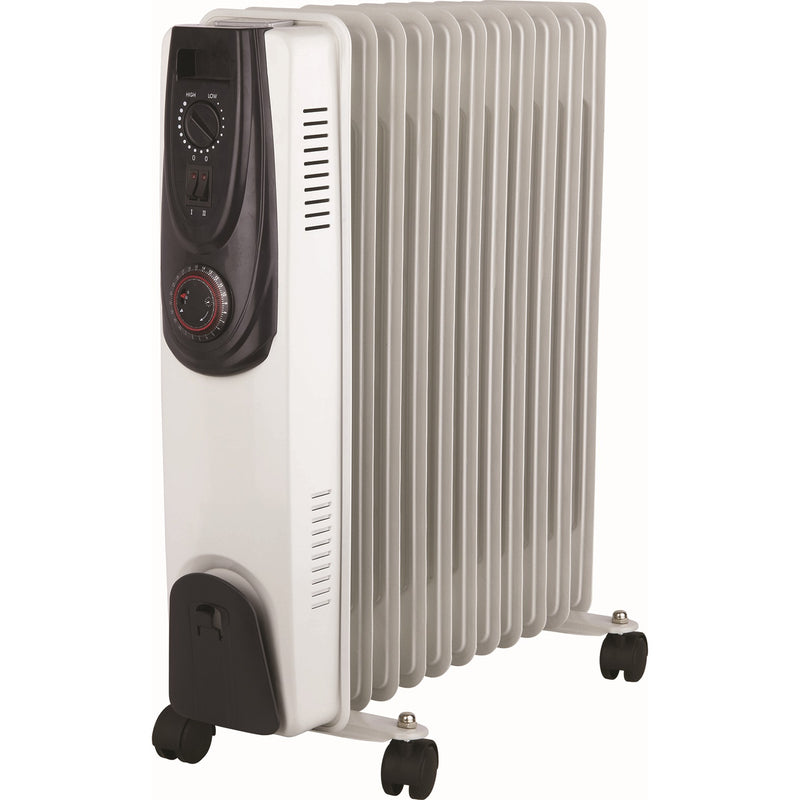 Kingavon OR101 Oil Filled Radiator 2.5kW with Thermostat & Timer