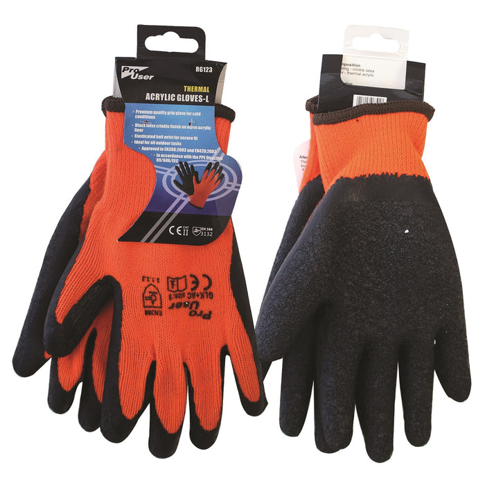 Pro User RG123 Thermal Acrylic Gloves - Large