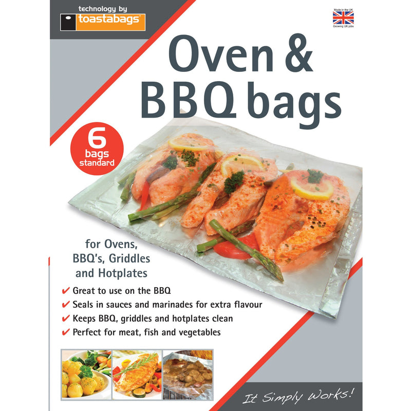 Planit BQBS6PP Oven & BBQ Bags Pkt6