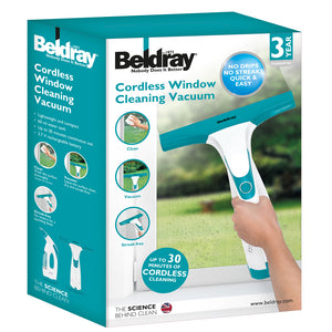Beldray BEL0749 Cordless Rechargeable Window Vacuum Cleaner, 60ml