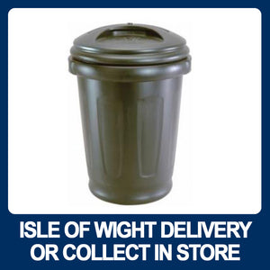 80LTR Black Dustbin with Recessed Handles